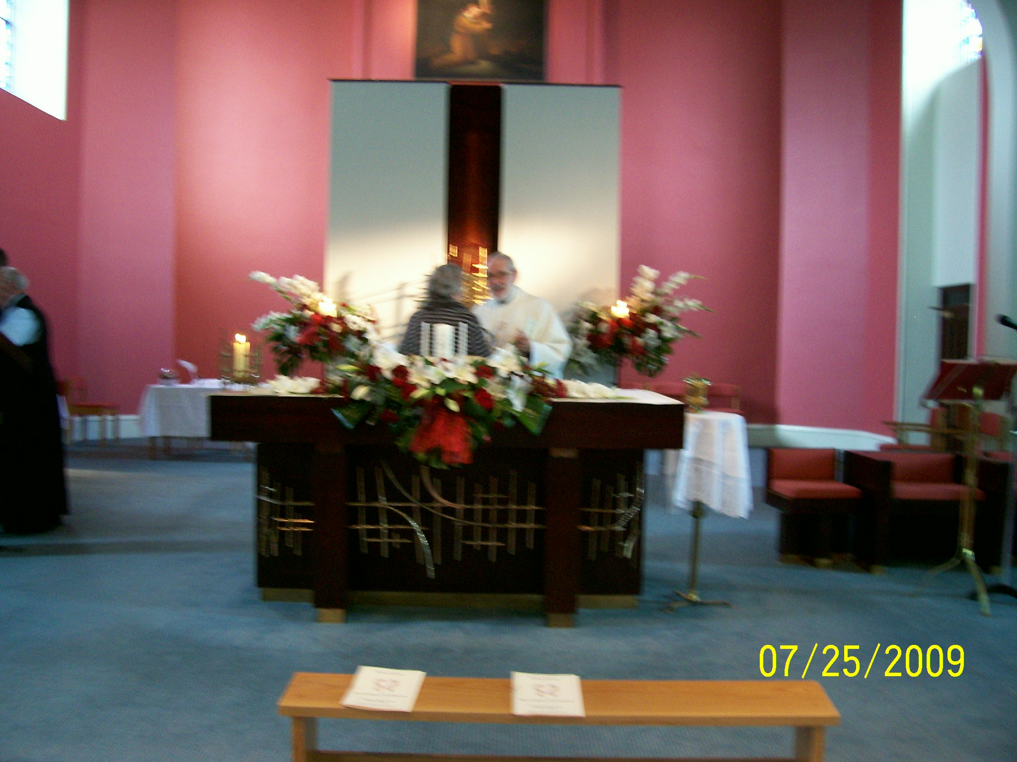 Altar in reds