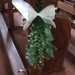 Simple pew bunch of greenery and september flower