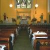 Blavk. White and Pink theme in Church