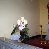 closeup of candle arrangement