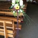 Candle Arrangement with Yellow Gerbera
